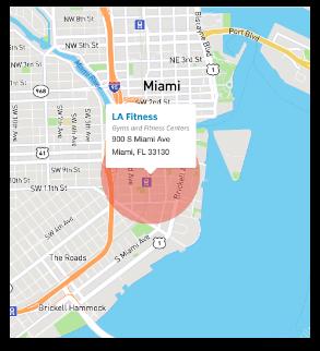 Location based advertising