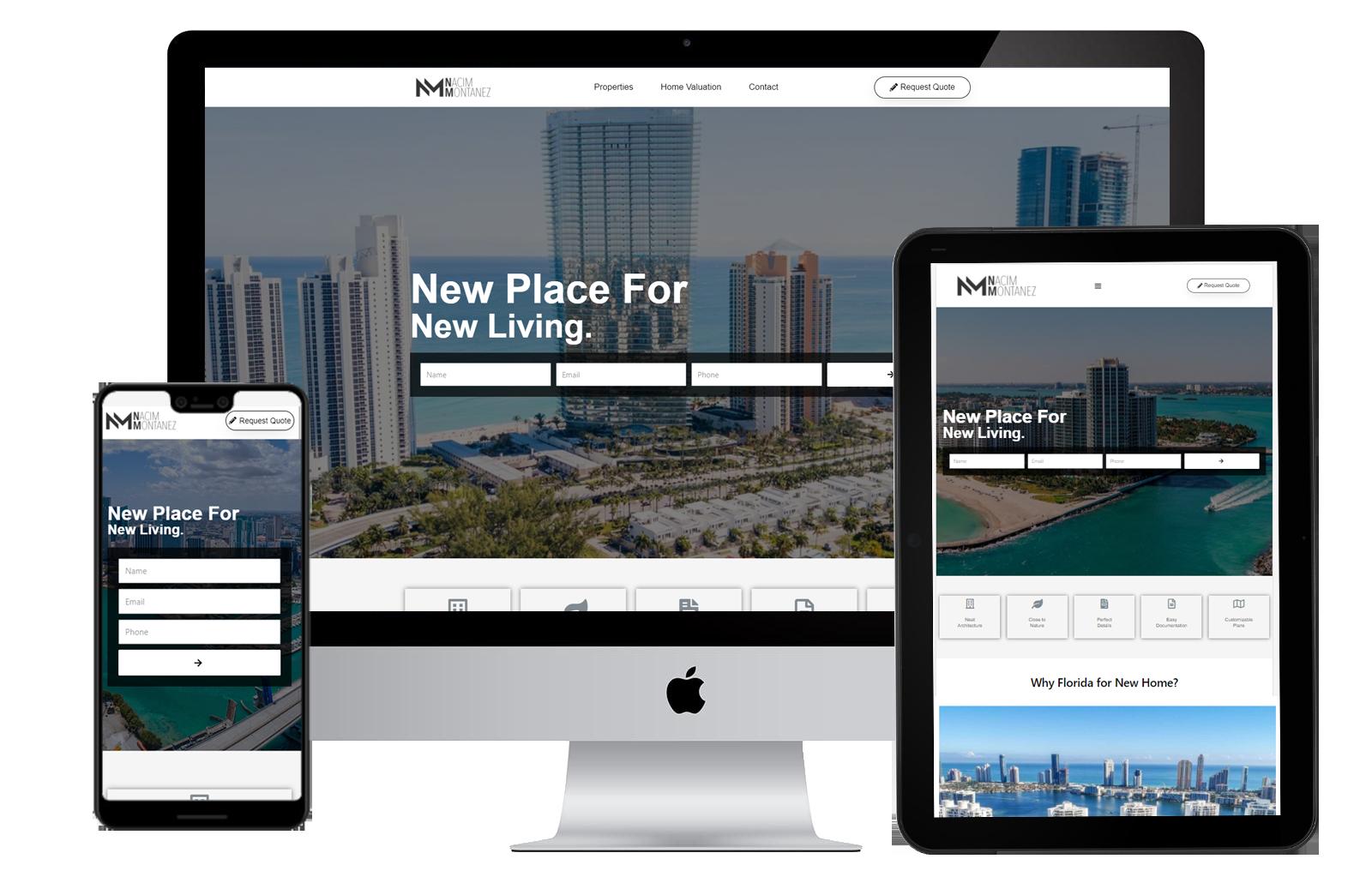 free real estate landing page